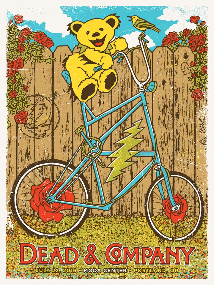 Gregg Gordon Gigart Dead And Company Portland Poster Release