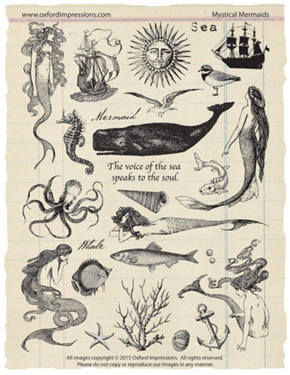 Mystical Mermaids rubber stamp collection