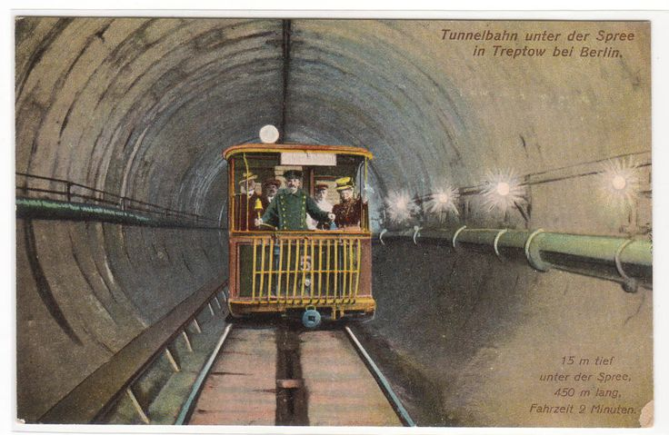 Tunnelbahn Underground Railroad Spree Treptow Berlin