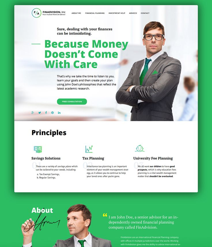 8. Financial Advisor Responsive WordPress Theme