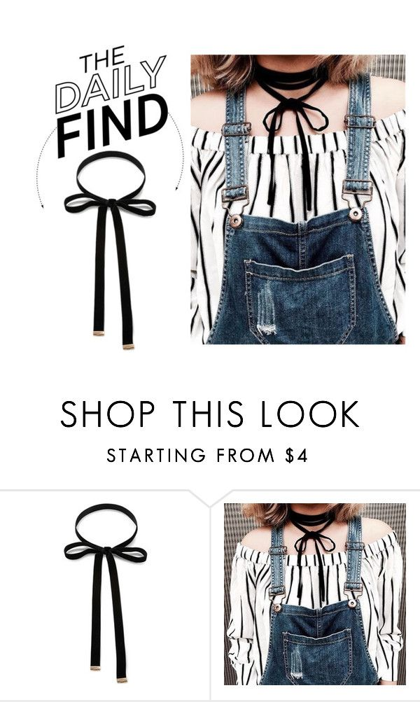 """""""The Daily Find: Forever 21 Bow Choker"""" by polyvore-editorial ❤ liked on Polyvore featuring Forever 21 and DailyFind"""