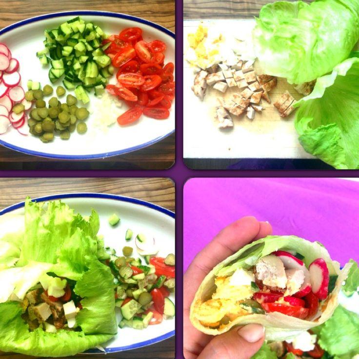 Lowcarb Salat Wrap