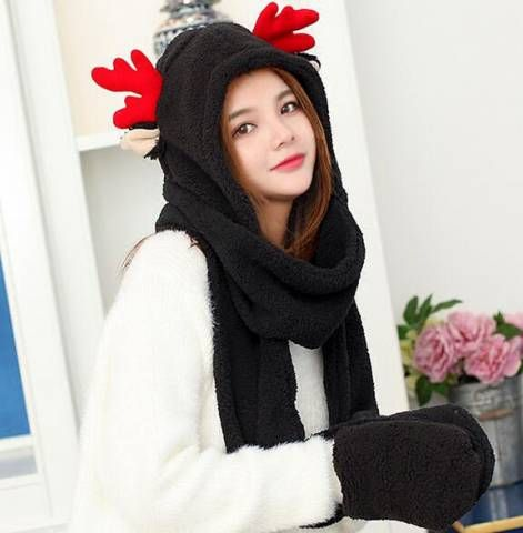 05387d754d995 Pin by BUYHATHATS LIMITED on Cosplay animal hat with mittens attached for  women