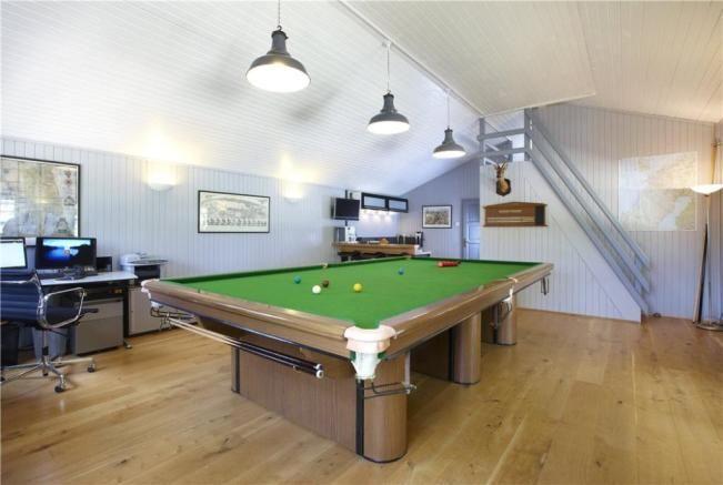 Games Room annexe.  6 bedroom farm house for sale Shenington, Banbury, Oxfordshire, OX15  Guide Price £1,695,000