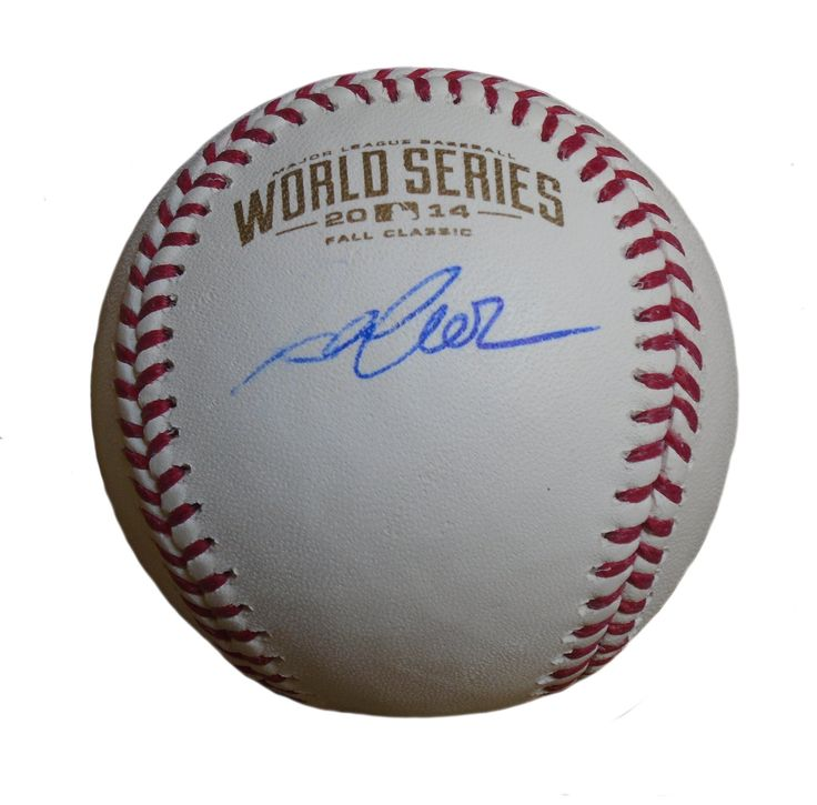 Aaron Crow Autographed Rawlings 2014 World Series Official Game Baseball, Proof Photo. Aaron CrowSignedRawlings 2014 World Series Official Game Baseball, Kansas City Royals, Proof   This is a brand-new Aaron Crowautographed Rawlings 2014 World Series official league leather baseball. Aaronsigned the baseball in blue ball point pen.Check out the photo of Aaronsigning for us. ** Proof photo is included for free with purchase. Please click on images to enlarge. Please browse our…