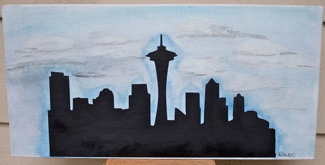 Sowdering About: Seattle Skyline Silhouette