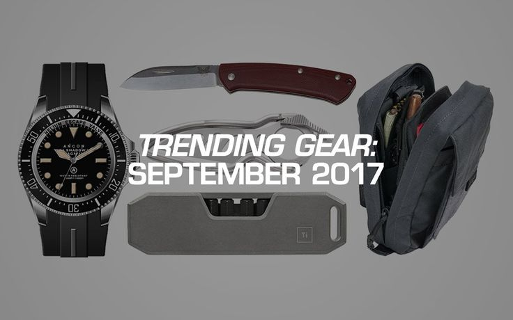 Trending Gear: September 2017  submitted by Adam Molina  Every day readers like you proudly share photos of their everyday carry on the site.  Not only is looking through their pockets this way super interesting but it's also a great way to find really cool gear you never even knew existed (yet somehow suddenly need).  When you hover over an item you like and click on it in these photos you're also letting other EDCers know you find that gear interesting. Each click gets recorded to create a…