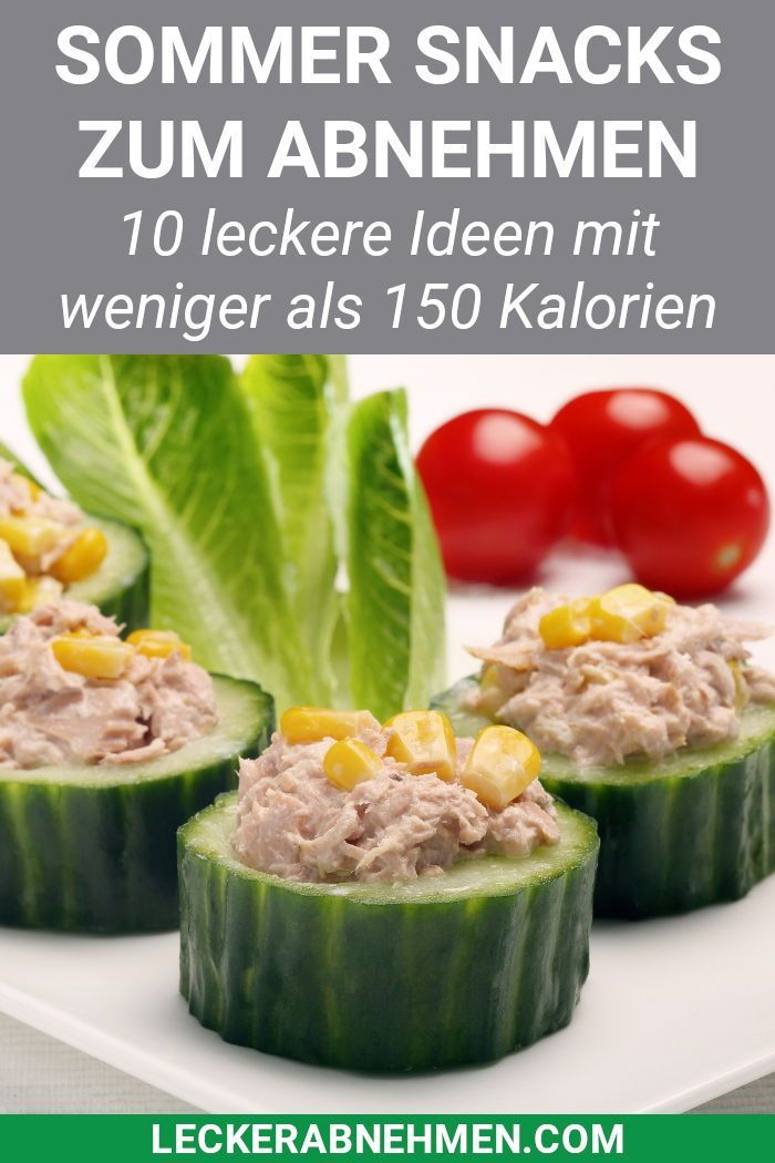 Snacks mit wenig Kalorien – 10 Sommer Rezepte zum Abnehmen