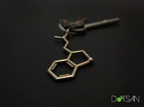 3D Print DMT Dimethyltryptamine Keychain