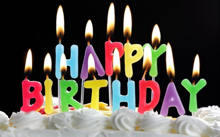 Happy Birthday Cake with Candles Widescreen