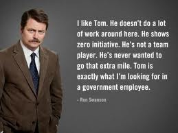 now we know what it takes to work for the government, thanks to Ron.