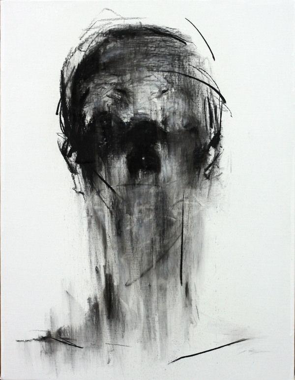 [109] untitled charcoal on canvas 53.2 x 41 cm 2013 by KwangHo Shin, via Behance