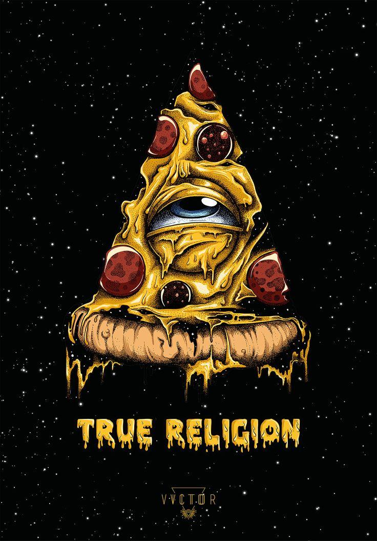 True Religion - Pizza Illuminati on Behance