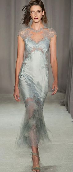 This is lovely. I would only add a little more on top for a little less see throughness / Marchesa, 2014