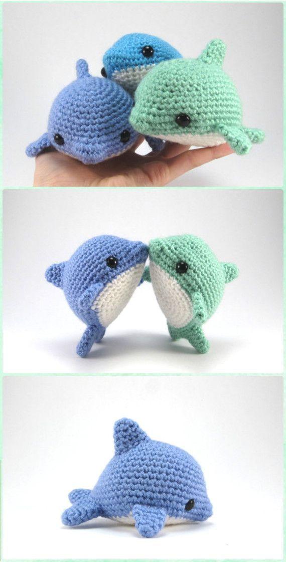 Häkeln Sie Amigurumi Pearl the Dolphin Paid Pattern – Amigurumi Häkeln Sie Sea Creatur – Tiere Basteln
