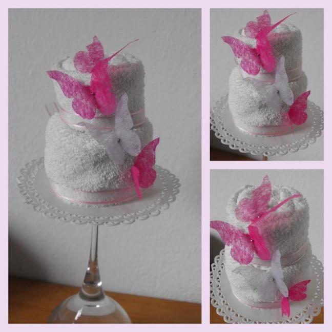 Mini cake con lavette. Ideale bomboniera per le cerimonie di piccoli e grandi