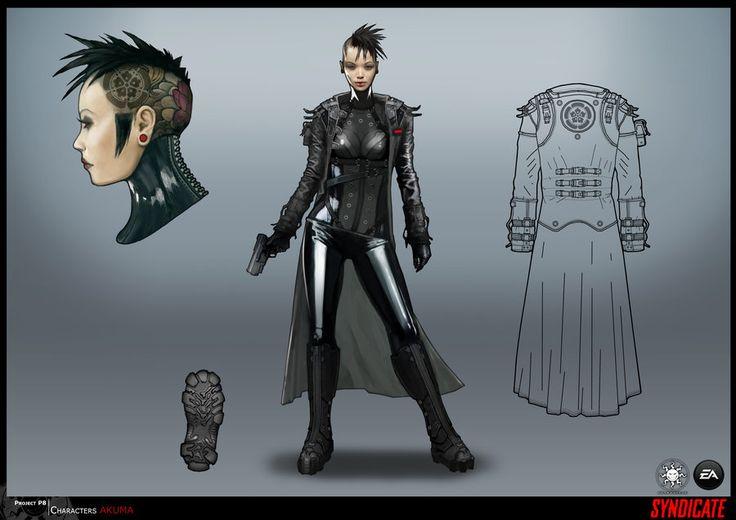 Cyberpunk Future Girl Futuristic Girl Girl With Gun