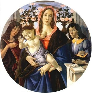 Botticelli, Sandro , - Madonna with Child, Saint John the Baptist and an Angel c.1470