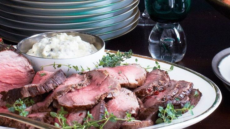 Beef tenderloin is our choice cut for this roast beef recipe.