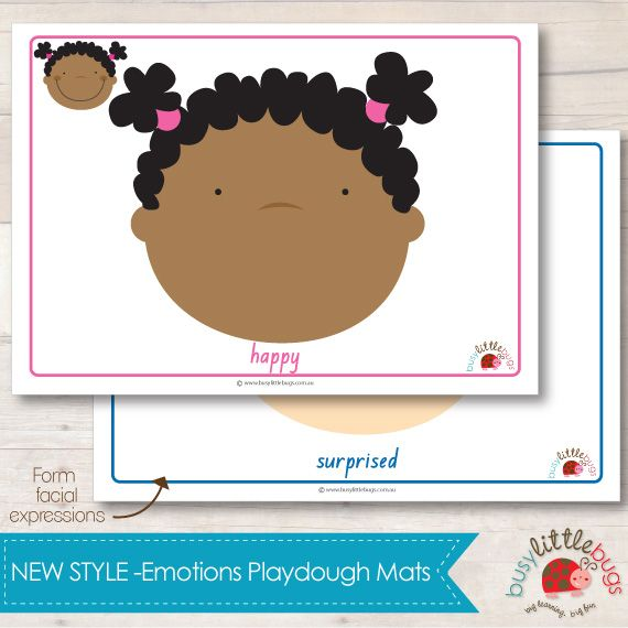Emotions Playdough Mats 1
