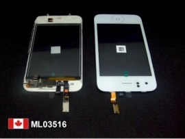 White Apple iPhone 3gs Touch Screen digitizer assembly  Price = $29.50