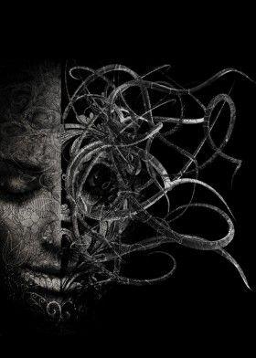 -Randy Monteith-  'médusa horror the face'