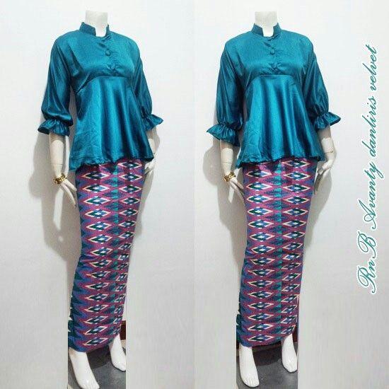 RnB Avanty Danliris Velvet Bahan Katun mix Velvet Size Allsize Harga 140 #peplum #girls #fashion #women #batikindonesia