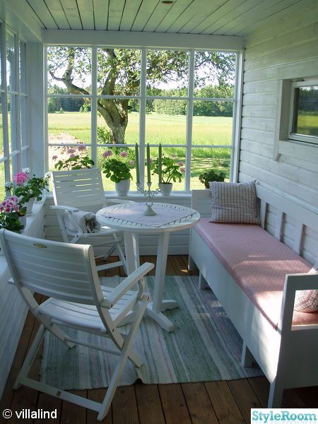 white wood porch and meadows