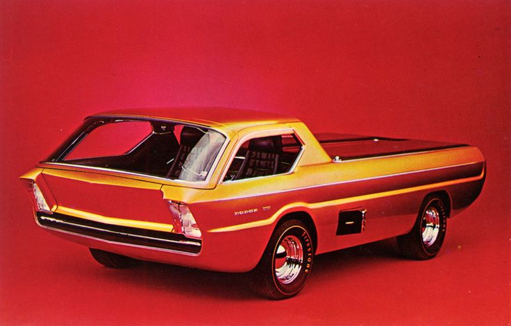 1967 Dodge Deora Concept Car - Unlike most concept cars, which are imagined and commissioned—if not built—by a carmaker, the Deora was made by car customizers and embraced by Chrysler only after its creation was well underway. The Alexander Brothers—who built the Beach Boys' Little Deuce Coupe, among other famous custom cars—dreamed up the vehicle and asked Harry Bentley Bradley to design it.