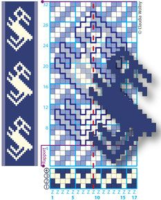 Claudia Wollny Arlon Webbrief weaving pattern Hund Hündchen dog doggy
