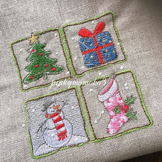 .  .  machinembroidery。。。  .  #embroidery #embroiderythread #machineembroidery #xmas #xmastree #xmasgoods #刺繍 #ミシン刺繍  #ミシン刺繍糸  #クリスマス #クリスマスツリー #クリスマスグッズ