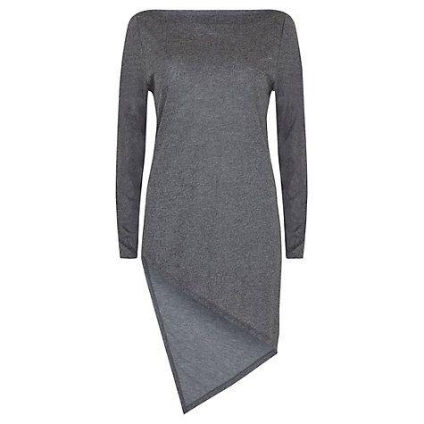 Buy Mint Velvet Asymmetric Tunic, Grey Online at johnlewis.com