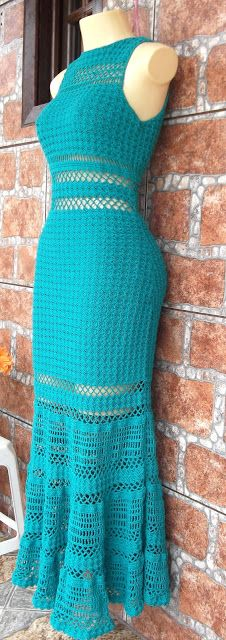 crochet dress; website has a lot of other crocheted items for inspiration too.
