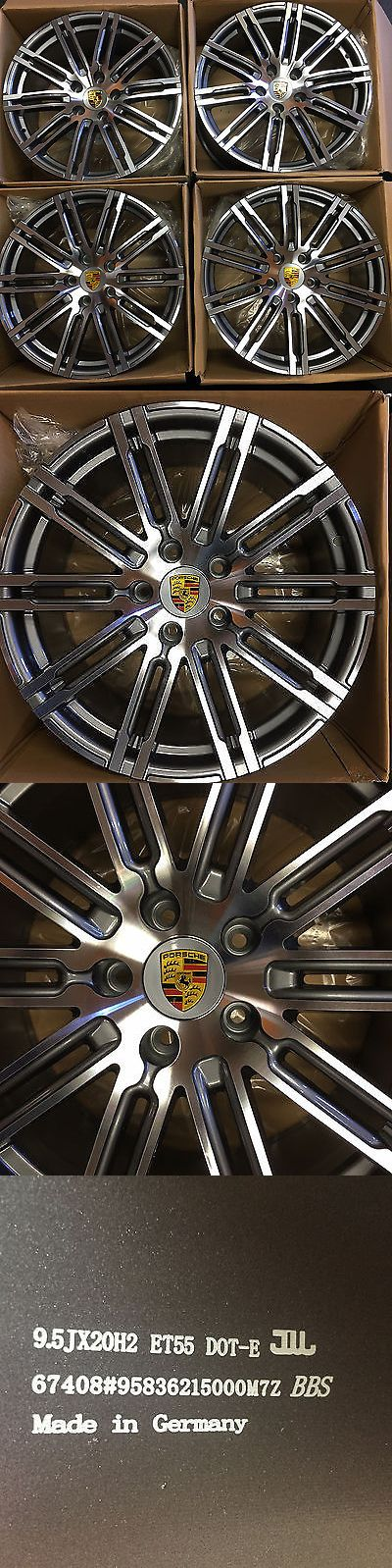 auto parts - general: 20 Porsche Cayenne Turbo S 2016 Hybrid Wheels Rims New Oem Polished Set Of 4 BUY IT NOW ONLY: $1395.0