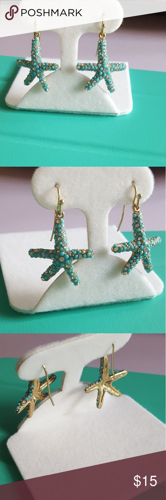 Pool Blue Starfish Earrings Boutique
