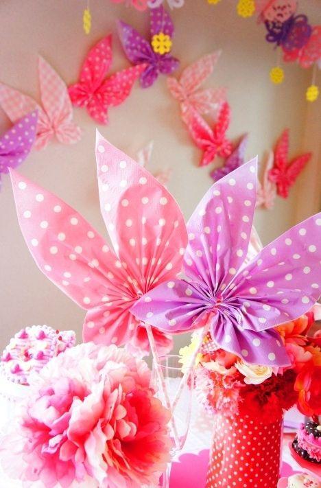 ペーパーナフキンで・・・パーティー蝶々をmamaごと♪ - 朝時間.jp