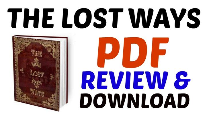 The Lost Ways PDF | Get The Lost Ways PDF Review and Download