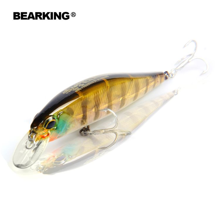 Retial quality bait A+ fishing lures,100mm/14.5g Bearking  7pcs different colors,crank minnow popper hard bait  2016 hot model