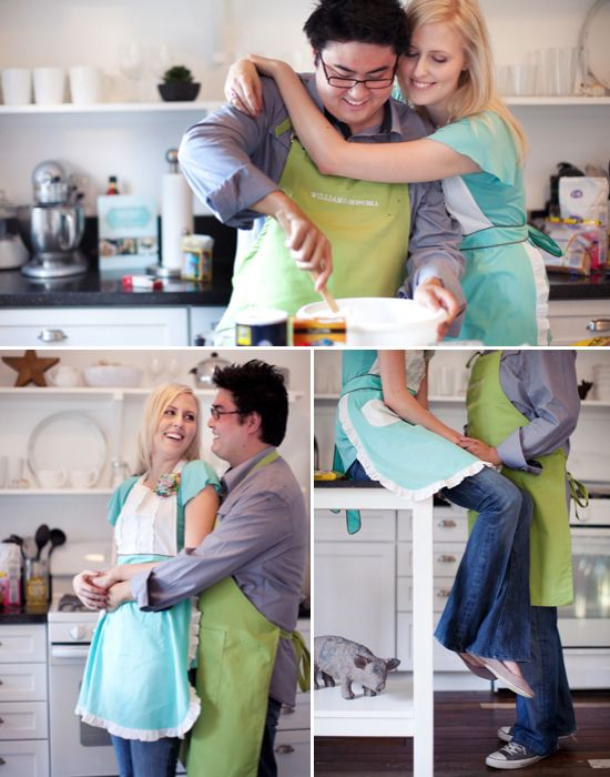 10 Unique Engagement Photo Themes.  Baking themed! Yes please!