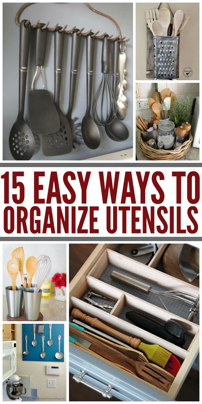 What Clever (and cute) ways to organize ktichen untensils! - One Crazy House