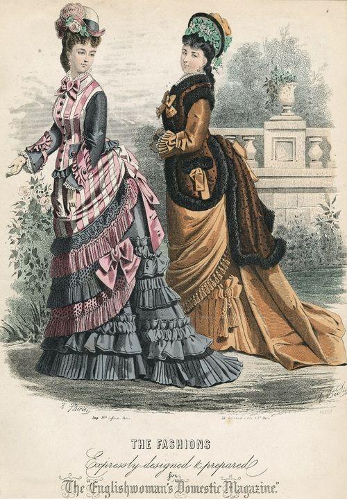 October fashions, 1875 England, The Englishwoman's Domestic Magazine
