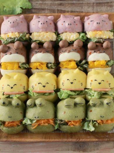 動物ちぎりパンサンド | お菓子・パンのレシピや作り方【corecle*コレクル】
