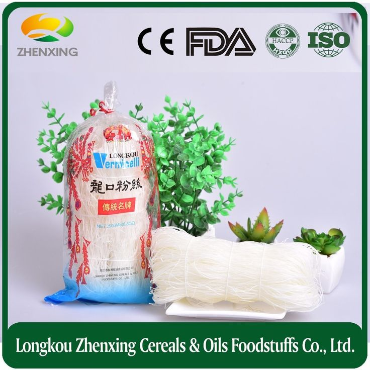 Smooth low fat mung bean noodle with certificates