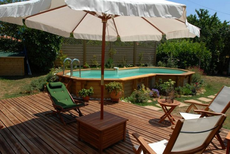 17 best images about piscine on pinterest decking best for Construction piscine bois