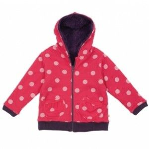 Girls Frugi Organic reversible hoodie. Snuggly warmth and comfort on and off the water