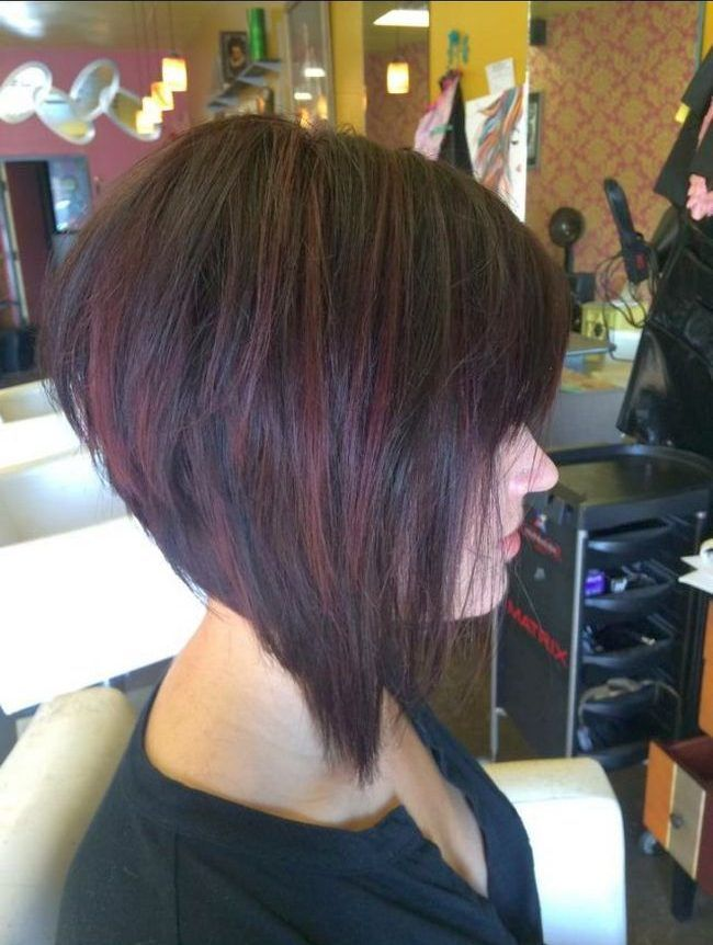 фото каре градуированное на короткие волосы