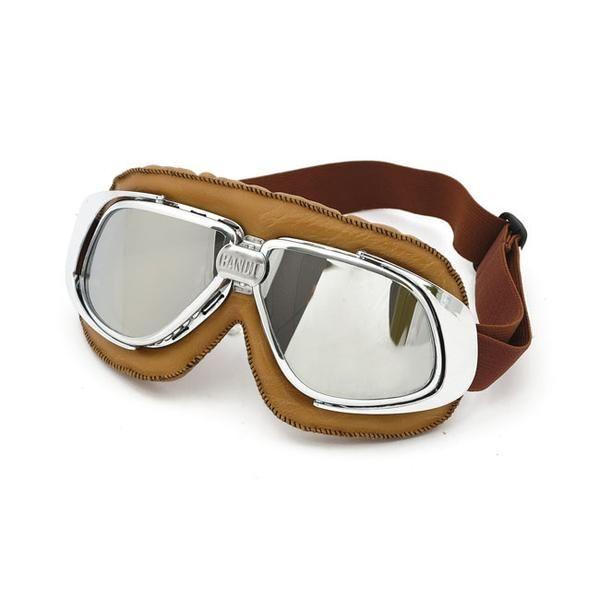 Bandit - goggles - Brune med krom glass