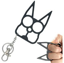 Cat Keychain for self-defense. For the cat-lover who won't take anybody's shit.