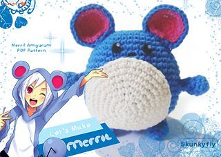 Kawaii pokemon merril amigurumi pattern. Include tips and tutorial with FULL colour pages. Easy for beginner