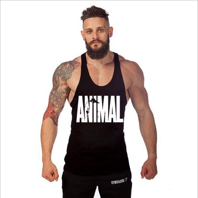 Animal Tank Tops Stringer Men's Singlets Bodybuilding Vest Fitness Men's Sleeveless Shirt Clothes